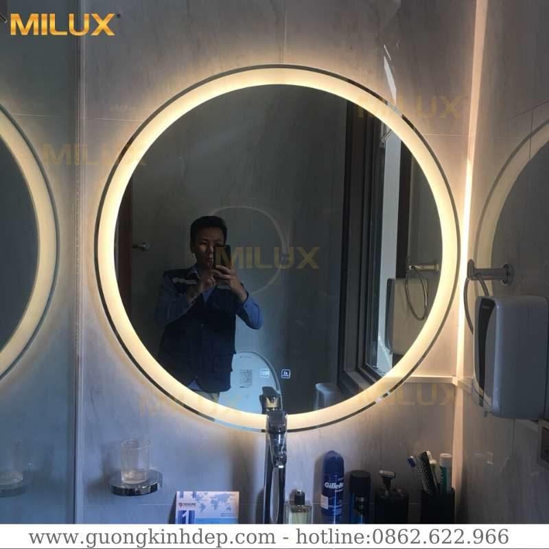 Gương Đèn Led Phòng Tắm Hình Tròn D90cm Milux MLD90-01