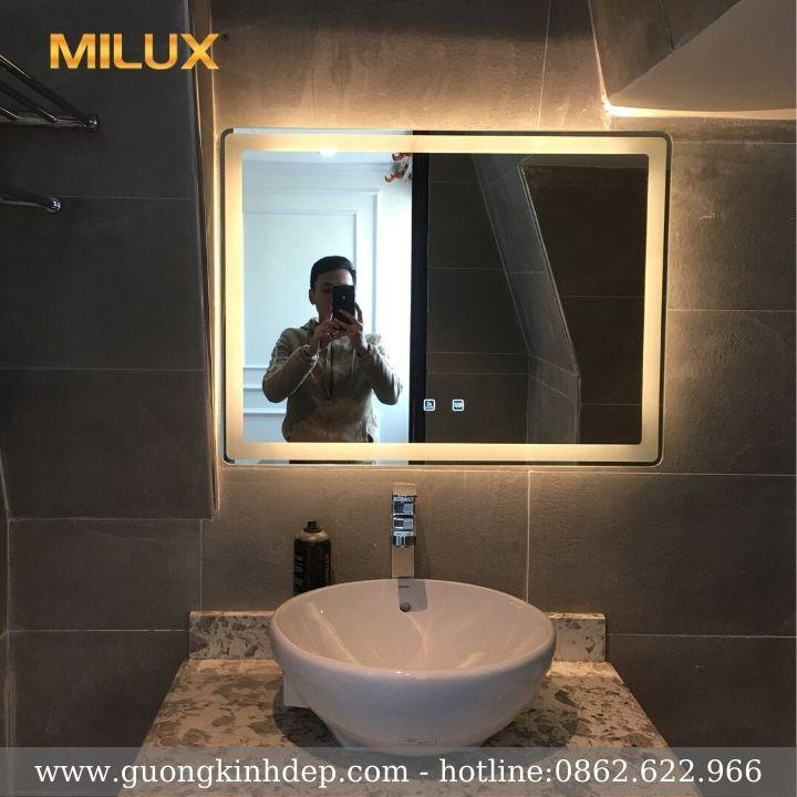 Gương Phòng Tắm Led Vàng Cao Cấp Milux
